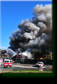 Scrap Yard Fire Houston